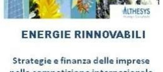 ITALIA, RINNOVABILI: 90 MILA POSTIPOTENZIALI A RISCHIO