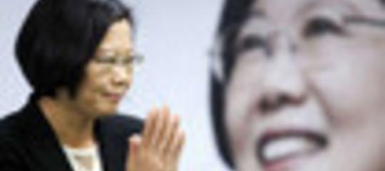 LA CANDIDATA PRESIDENZIALE  DEI DEMOCRATICI A TAIWAN