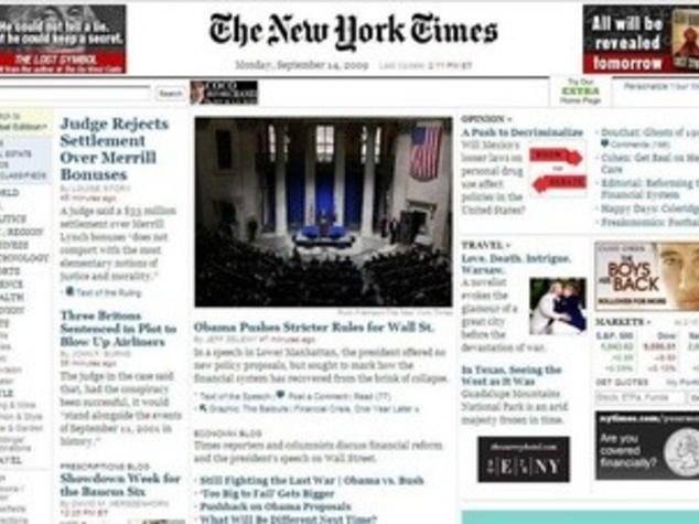 USA: NEW YORK TIMES, ATTENTI UN BANNER-VIRUS SUL NOSTRO SITO