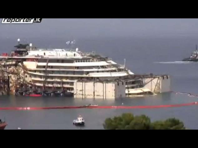 Concordia: lunedì probabile partenza per Genova