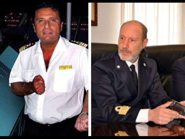 """Concordia: capitano de Falco del """"torni a bordo!"""" a Schettino trasferito in ufficio"""