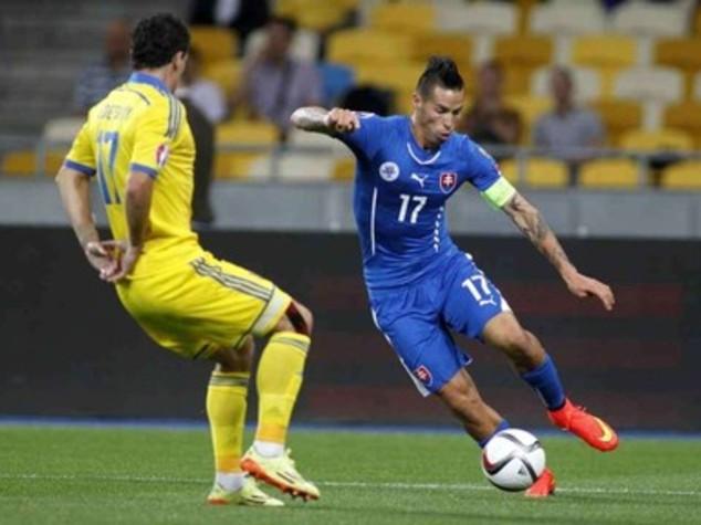 """Europa League: Napoli, domani Hamsik sfida 'suo' Slovan """"avro' carica speciale"""""""