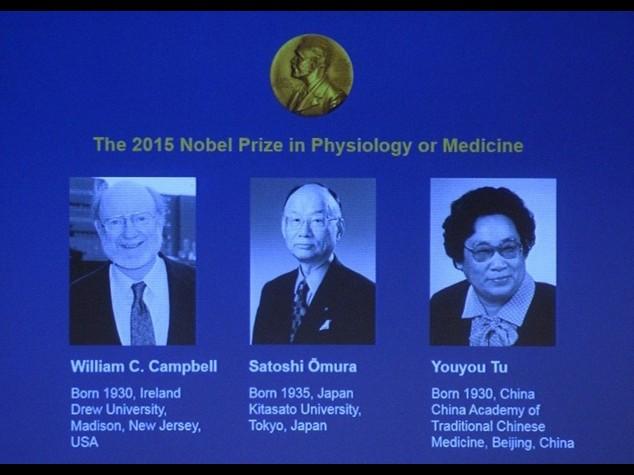 Nobel Medicina a tre scienziati per cure su infezioni e malaria