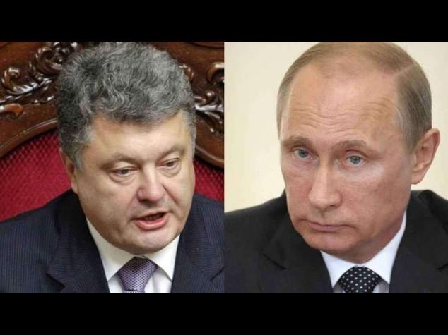 """Ucraina: Putin, """"in contatto"""" con Poroshenko, auspico pace"""