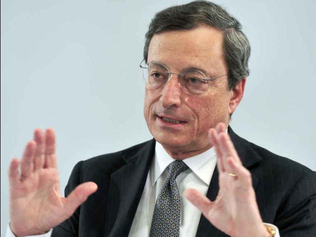 """Draghi, """"pronti ad acquisto bond""""  Le Borse ripartono, Mib +1,33%"""