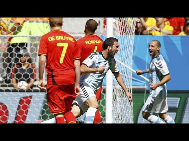 Argentina-Belgio 1-0, gol-capolavoro di Higuain dopo 6 minuti
