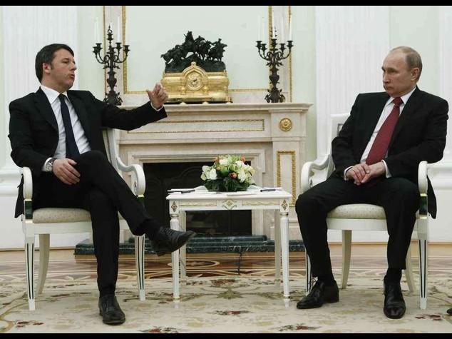 """Putin, """"In Libia con l'Onu"""". Renzi, """"Con Mosca contro terrorismo"""""""