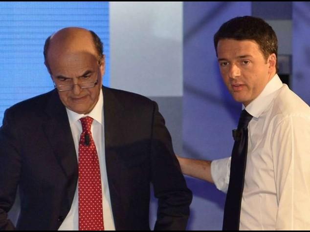 """Renzi, minoranza Pd casca male Bersani, """"lui rispetta solo Silvio"""""""
