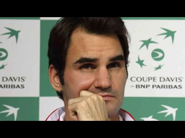 """Coppa Davis: Federer ancora fermo per dolori alla schiena, """"ma resto ottimista"""""""