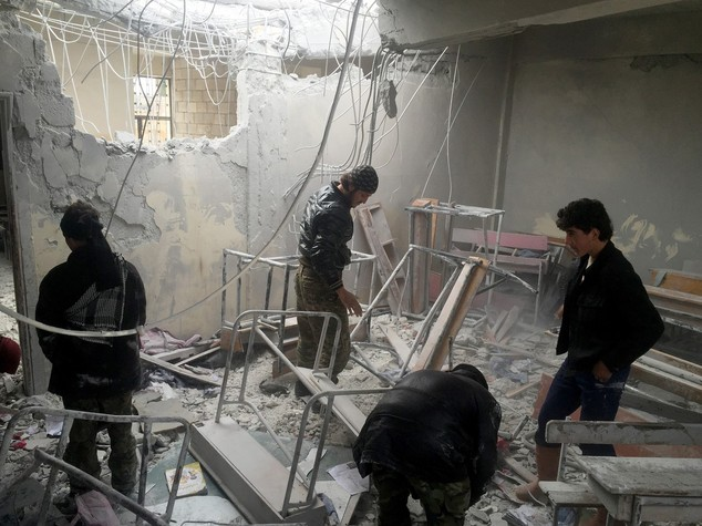 Strage di bambini in un raid in Siria