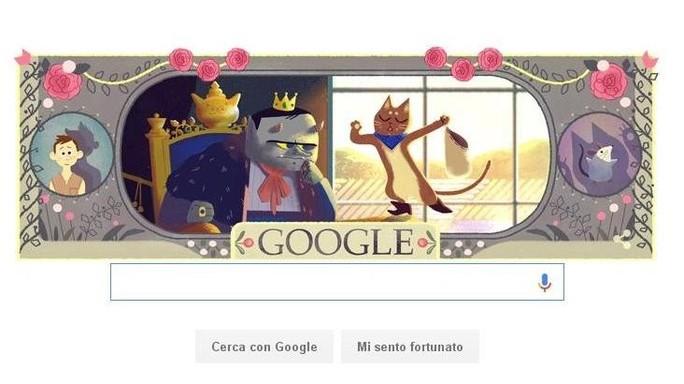 Doodle da fiaba, Google celebra Charles Perrault