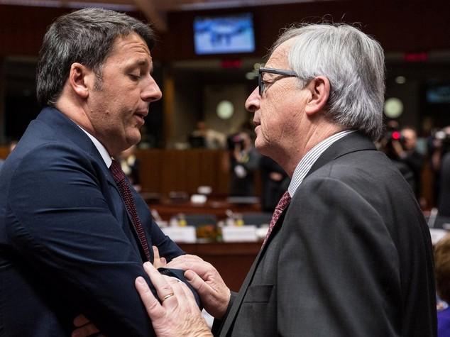 Ue, dopo scontro Junker-Renzi: