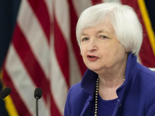 """Fed, Yellen """"rafforzata possibilità rialzo tassi"""""""