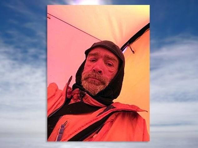 L'ultimo selfie di Worsley, morto attraversando l'Antartide
