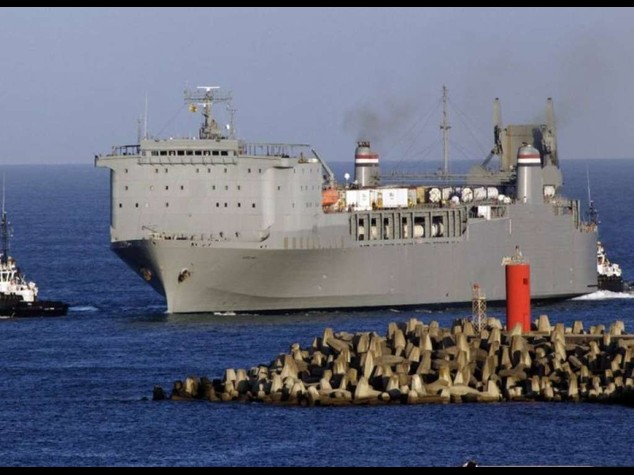 U. S. ship to pick up Syrian chemical weapons from Italy