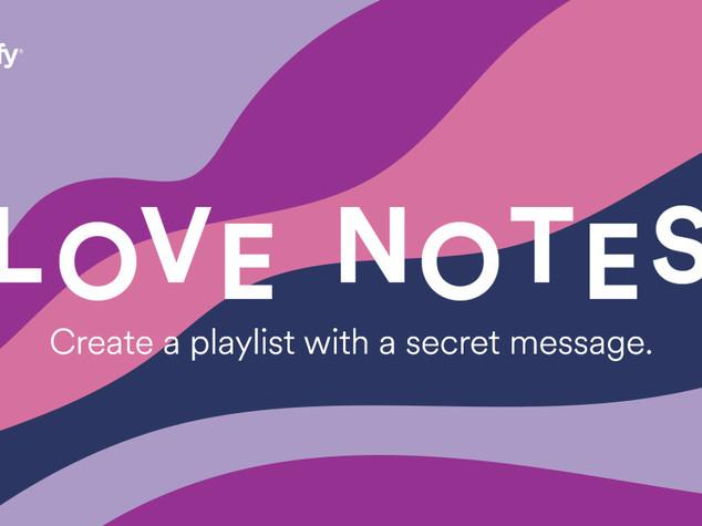 """Canzoni e messaggi d'amore con le """"Love Note"""" di S  potify"""