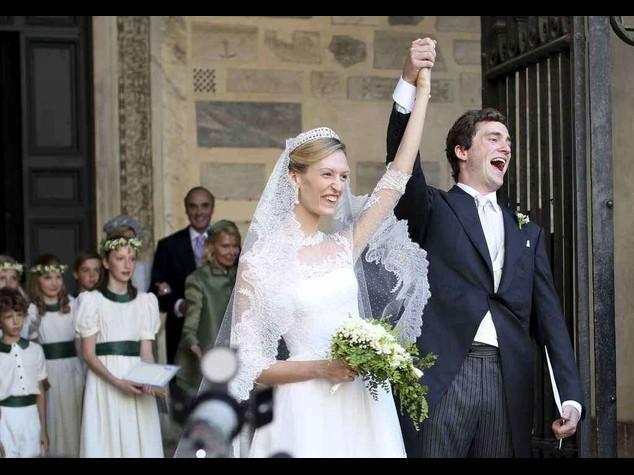 Nozze reali a Roma: Amedeo del Belgio sposo a Santa Maria Trastevere - foto