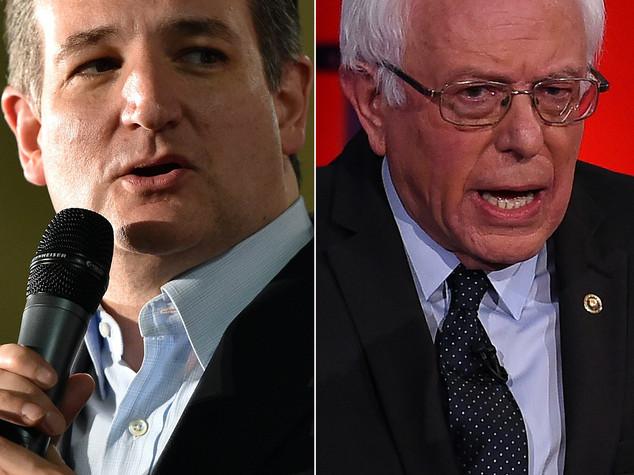 Usa 2016: Sanders e Cruz avanzano ma dominio Clinton-Trump intatto