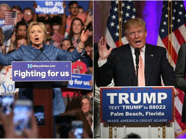 Clinton e Trump sempre più verso la nomination