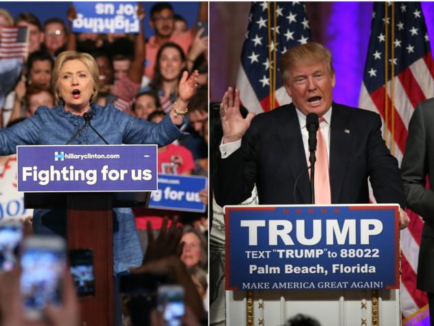 Risultati immagini per Trump e Clinton a confronto immagini