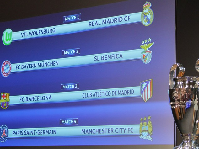 Quarti Champions, Bayern-Benfica e Barcellona-Atletico