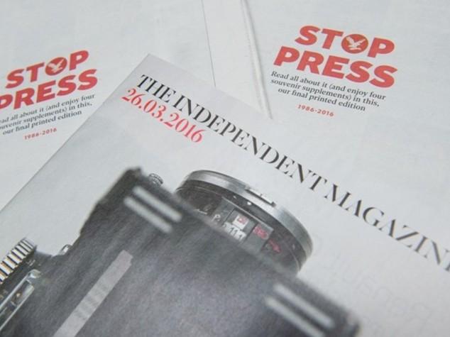 L'ultima copia dell'Independent, ora è solo online