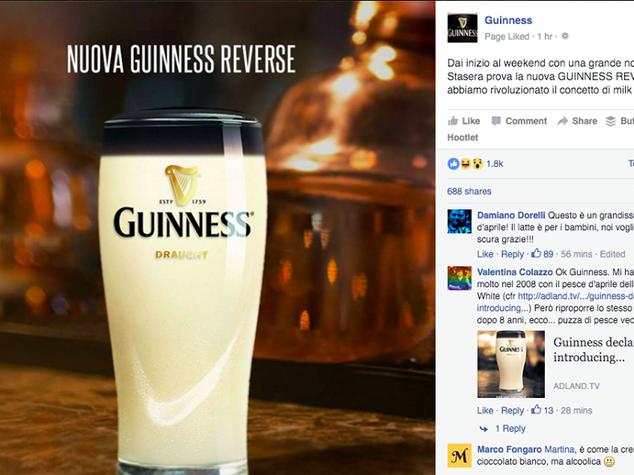 """Pesce d'aprile, dalla gaffe di Google alla Guinness """"Reverse"""""""