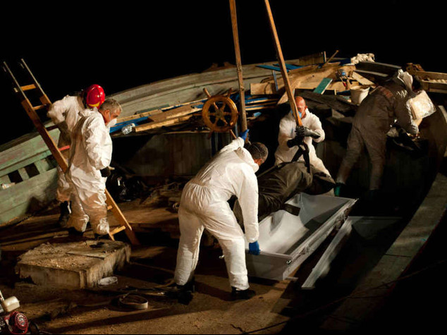 Forty-five dead in immigrant ship rescued off Sicily