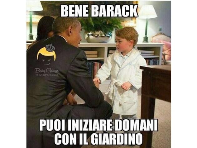 Baby George conquista Obama e oscura i genitori