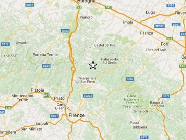 Scossa di terremoto in Mugello, in corso verifiche