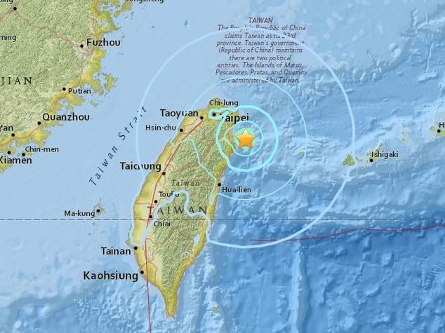 Taiwan: terremoto magnitudo 5,8, scosse avvertite anche a Taipei