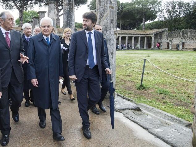 Mattarella a Pompei:
