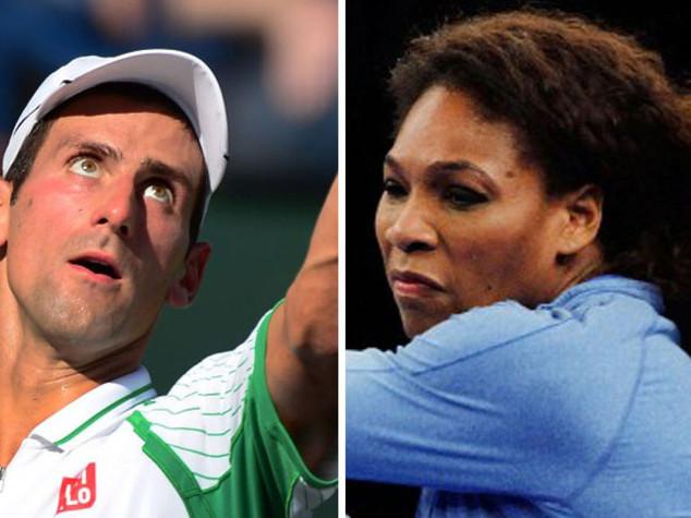 Djokovic e Serena sulla vetta del mondo, Vinci-Pennetta nella top ten