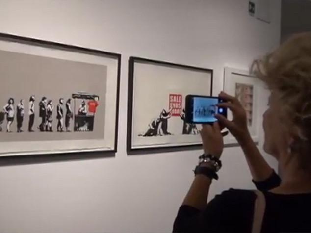 Street artist Bansky makes his museum debut in Rome