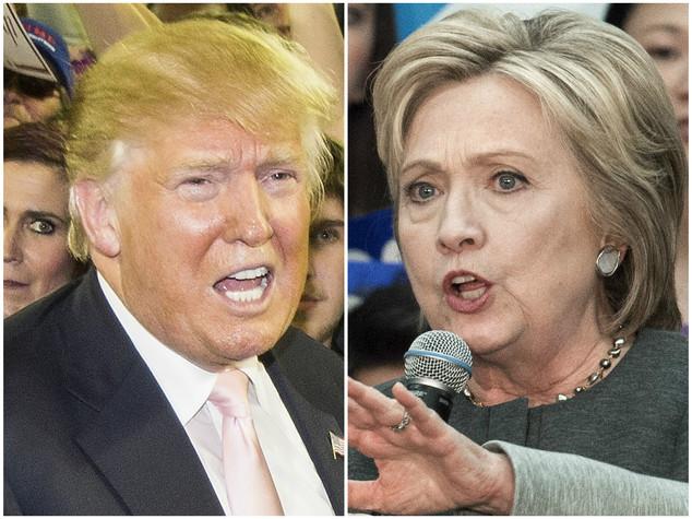 Nuovo sondaggio, testa a testa Clinton-Trump