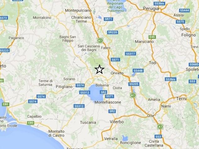 Scossa di terremoto tra Terni e Orvieto, nessun danno