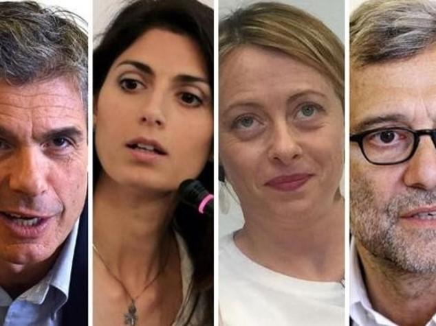 Roma: Exit poll, Raggi 'vola' ma Meloni 'insidia' Giachetti