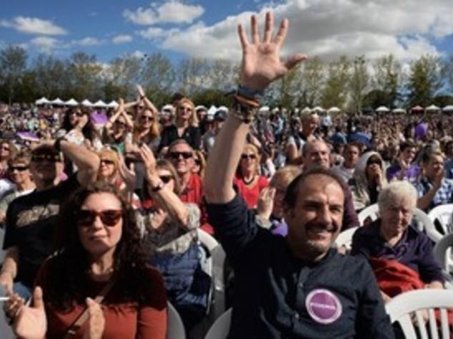 Spagna: Podemos scalda motori; sondaggi,primo partito opposizione