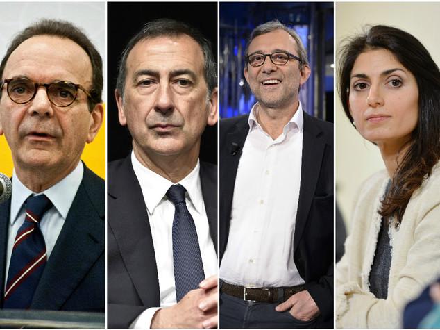 Exit poll: al ballottaggio Raggi-Giachetti e Sala-Parisi