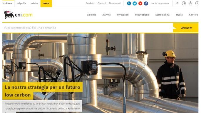 """Eni presenta nuovo sito, """"il futuro è di chi lo sa immaginare"""""""