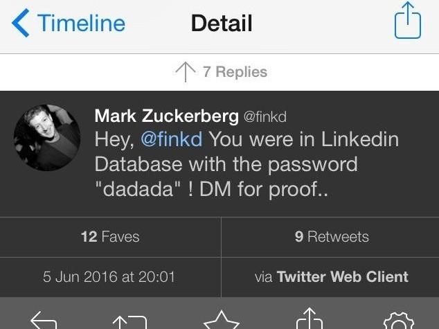 Hacker violano profilo Twitter di Zuckerberg, password era 'dadada'