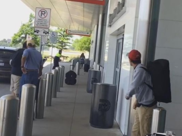Sparatoria in aeroporto Dallas Love Field - Video