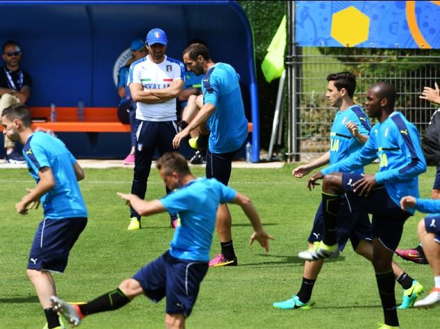 Italia, allenamento senza Buffon, Candreva e De Rossi