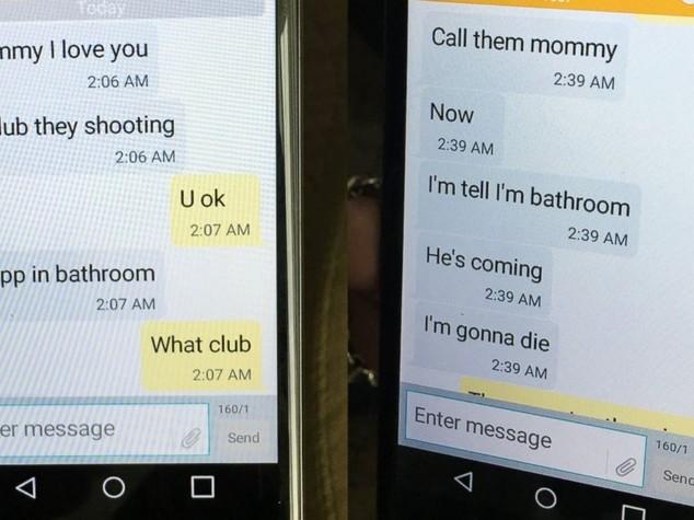 Strage Orlando: morto il ragazzo che mandava sms alla madre