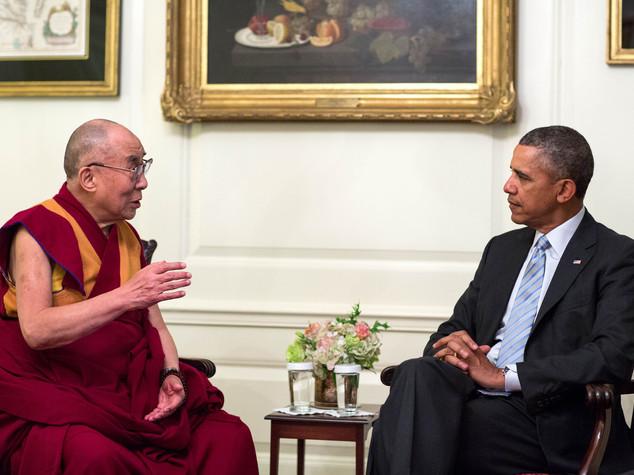 Obama riceve il Dalai Lama a porte chiuse