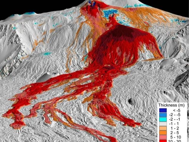 Etna: il vulcano che cambia, una mappa disegna il nuovo volto
