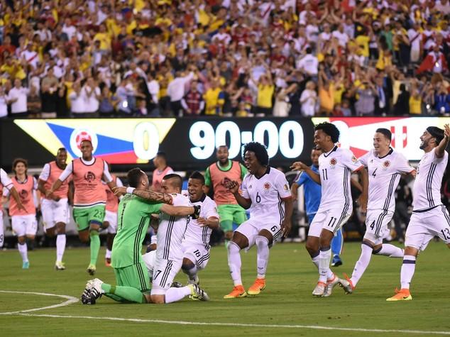 Coppa America: Colombia in semifinale, Peru' battuto ai rigori
