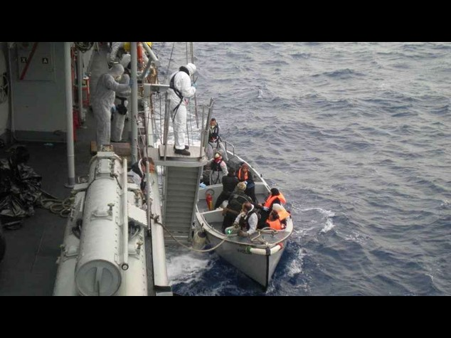 Salvati in due giorni 3. 510 migranti dalle navi Marina
