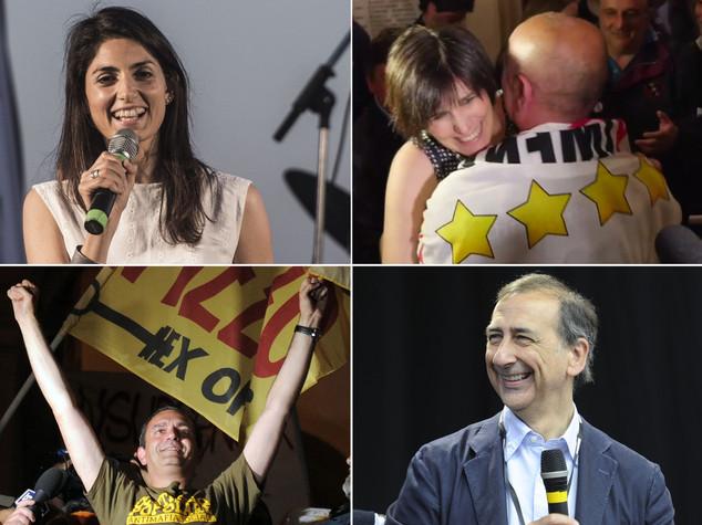 M5S trionfa a Roma e Torino, Sala a Milano