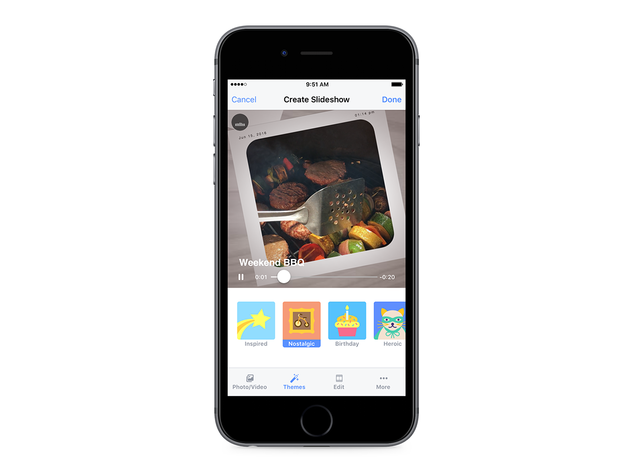 Facebook trasforma le foto in un video-collage